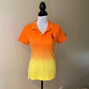 Tie-dye ombré  fitted Ralph Lauren polo